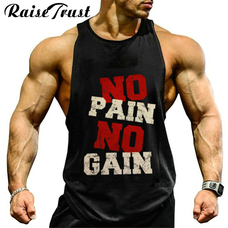 Bodybuilder 2019 gymvest for Fitness muscle   tank     tops   Cotton Bodybuilding loose undershirt plus size   tank     tops   Hommes vest