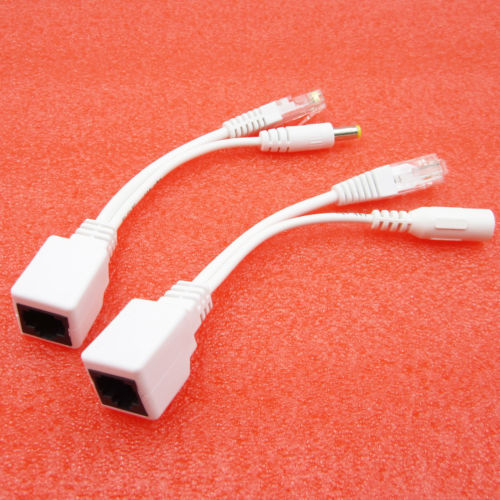 Power Over Ethernet Passive POE Injector Adapter Splitter Cable kit white white ...