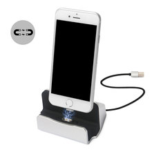 Aluminium Magnetic Charger Dock Station for iPhone 7 7 Plus Desktop Charging Sync Data Stand Holder for iPhone 6s 6 Plus 5s 5
