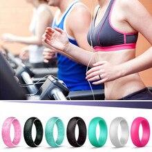 7 יח\סט סיליקון טבעות 5.7mm היפואלרגנית אנטיבקטריאלי תנועה רך ספורט אצבע טבעות גומי נישואים לגברים נשים