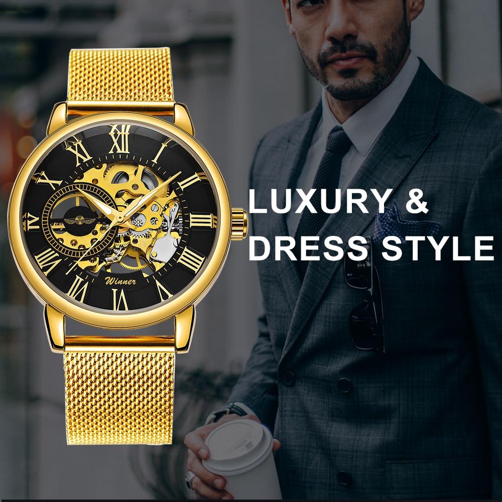 HTB11PWlazDuK1Rjy1zjq6zraFXaq WINNER Official Golden Automatic Watch Men Steel Strap Skeleton Mechanical Skull Watches Top Brand Luxury Dropshipping Wholesale