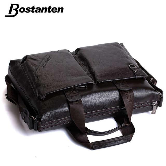placeholder Bostanten Men Briefcase 2017 New Soft Leather Handbags Men  Shoulder Messenger Bag Crossbody Bag Travel Bag 8c5390edf5167