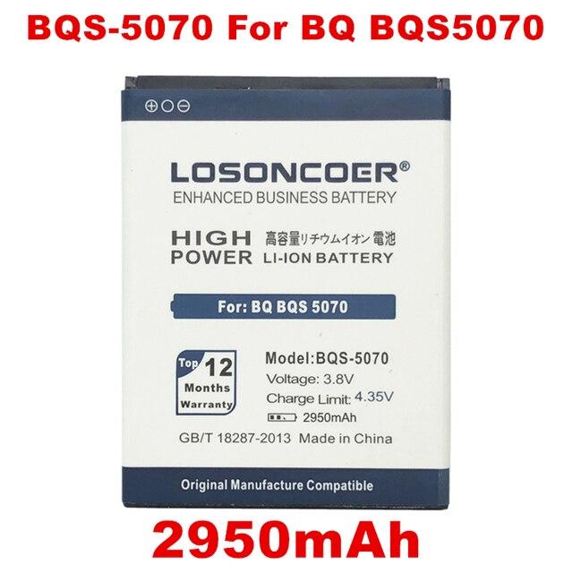 Losoncoer 2950 мАч BQS-5070 Батарея для BQ BQS 5070 BQS5070 Magic Nous НС 5004 батареи мобильного телефона + номер для отслеживания