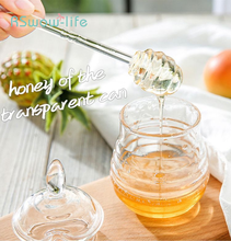 Creative Honey Jar with Stir Bar Juice Jam Plastic Bottle Home Kitchen Supplies Sugar Cannister