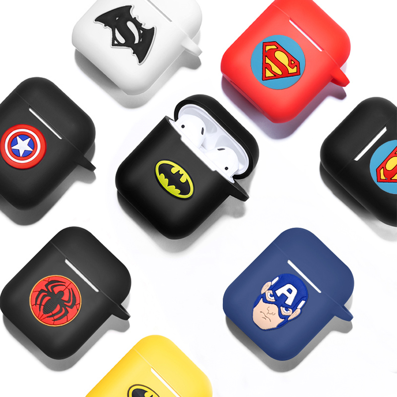 Image 2 - Marvel Wireless Bluetooth Earphone Case For Apple AirPods Charging Headphones Protection Cases Cover Charging Box Accessories-in Earphone Accessories from Consumer Electronics