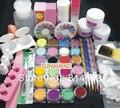 2018 Pro Full crytal Acrylic Glitter Powder Glue French Nail Art 500 Tip Brush Kit Set