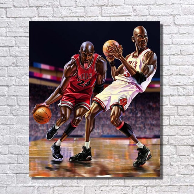 New Design Hand painted Famous Basketball Player Oil Painting Modern ...