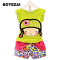 Sodawn Baby Girl Clothes Fashion Cartoon Girls 2017 Summer Set Clothes Baby Suits Kids T Shirt +Pants Children Clothing Set