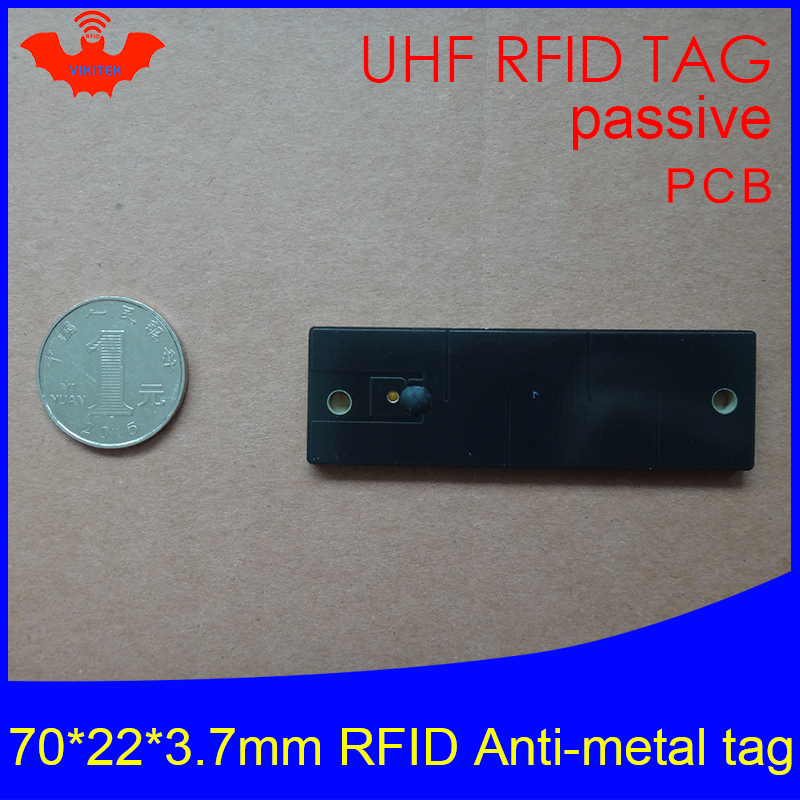UHF RFID Metal Tag 915mhz 868mhz Alien Higgs3 EPCC1G2 6C 70*22*3.7mm Fixed Assets Management PCB Smart Card Passive RFID Tags