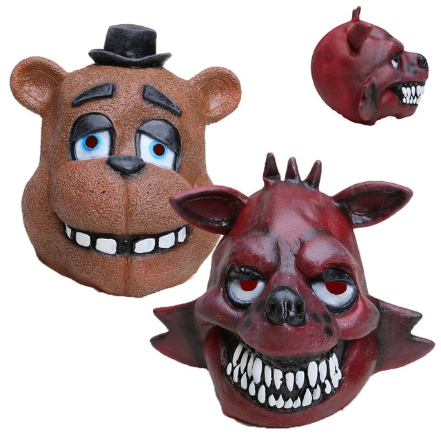 Five Nights At Freddys mask FNAF foxy chica Freddy Fazbear Bear mask for kids halloween party decorations Supplie