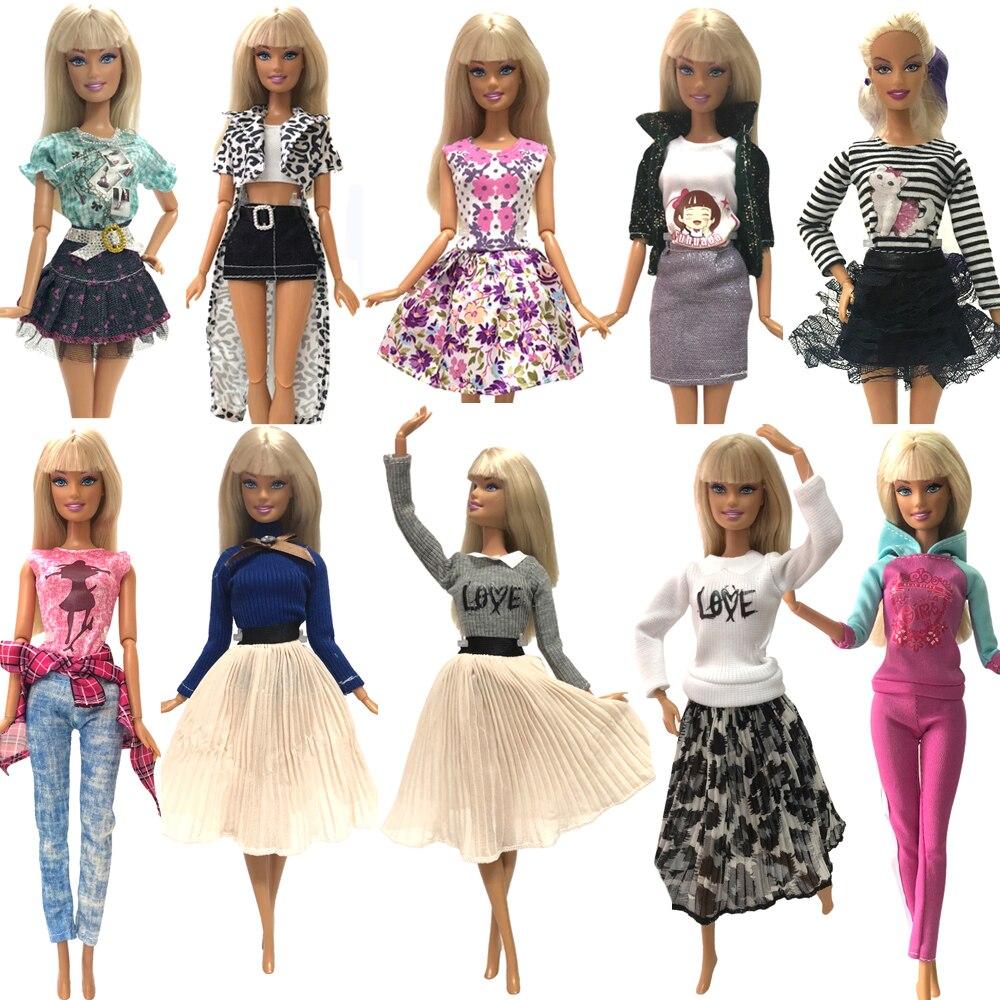 NK offre spéciale nouvelle robe de poupée belle robe de fête à la main robe de mode pour Barbie Noble poupée enfant filles cadeau JJ