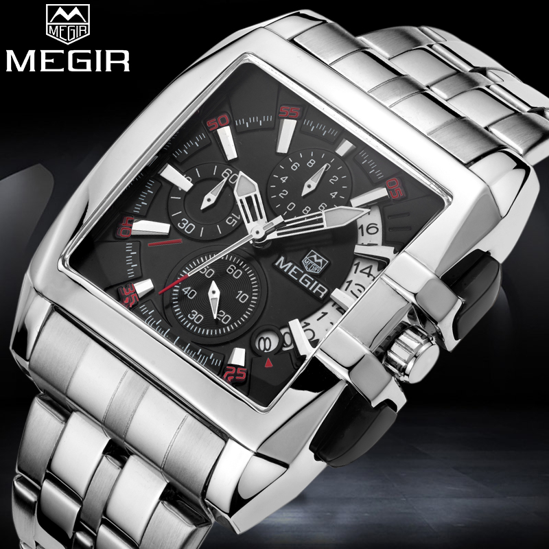 MEGIR Top Brand Men Quartz Watches Man Fashion Sport Watch Male Casual Military Wristwatch Mens Analog Clock Relogio Masculino weide mens watches top brand luxury fashion casual sport quartz watch men military wristwatch clock male relogio masculino