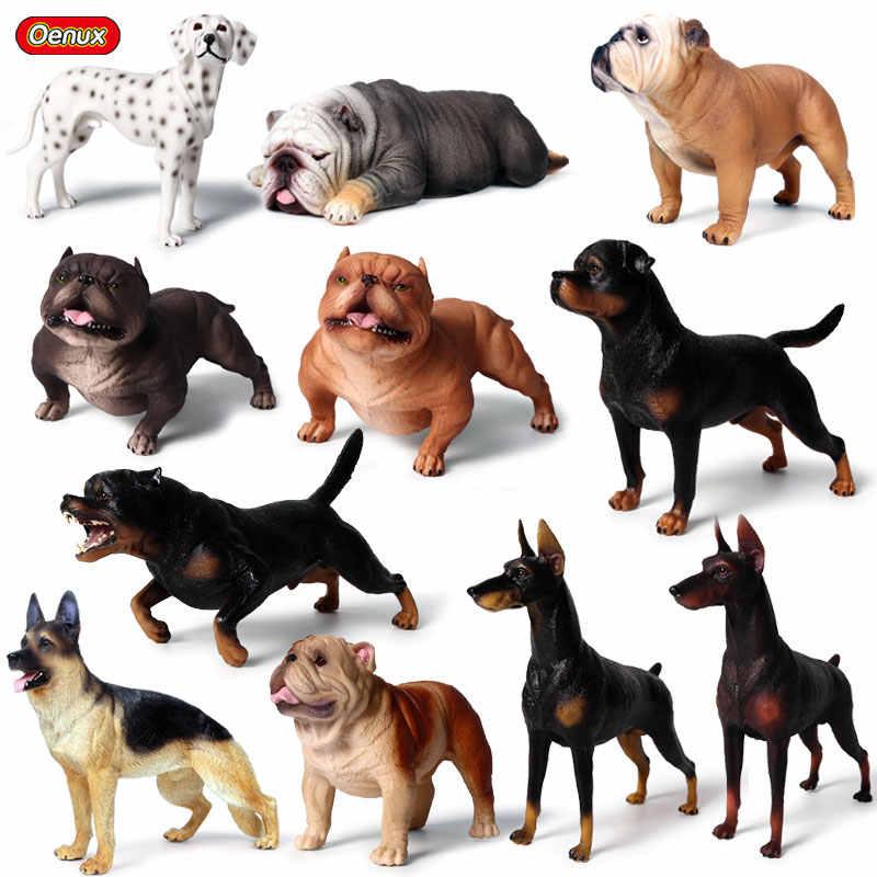 Oenux Lifelike Dog Animals Doberman Pinscher Rottweiler Dalmatian