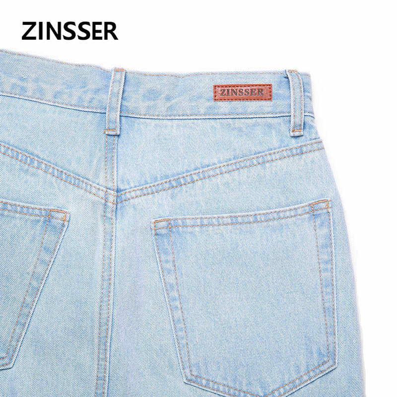 Осенне-зимняя женская джинсовая причудливая юбка с разрезом спереди, длинная повседневная юбка из 100% хлопка с необработанными потертостями, синяя черная Женская юбка