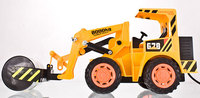 Free Shipping Remote Control Simulation Road Roller 2 Wheel Steamroller Truck Engineering Roller Truck Toys