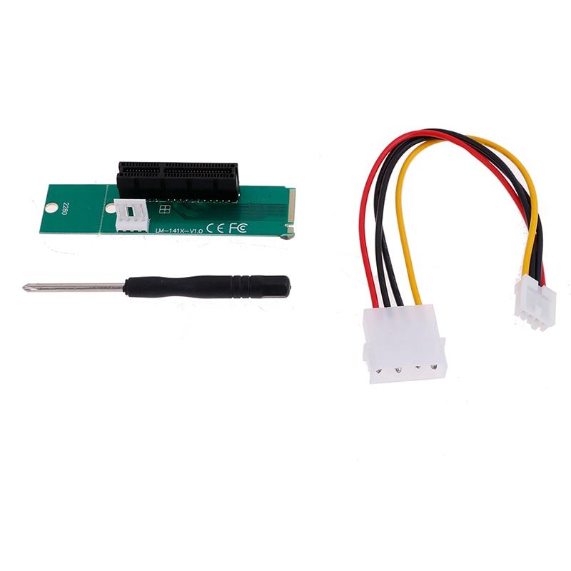 High Speed PCI-e 1X//4x Card SSD to NGFF M.2 M Key PCIE Slot Adapter+Screw Driver
