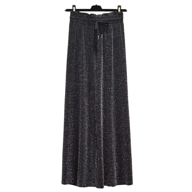Summer New Plus size Nine Points   Pants   Women loose   Wide     leg     pants   Women's Korean Casual   Wide   tube Trousers Tide 100KG 4XL F408