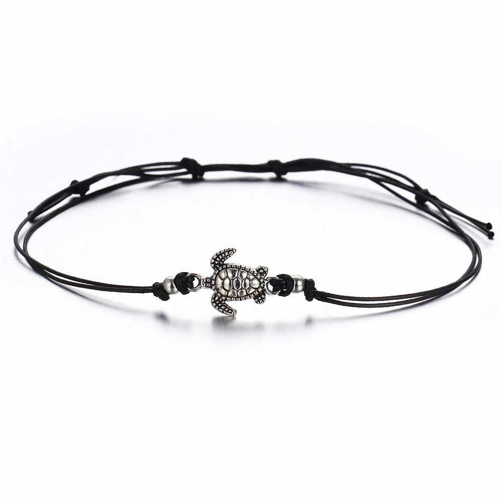Boho начальный браслет-цепочка на щиколотку браслет на лодыжке богемский черепаха пляж дамы ювелирные изделия ножные браслеты для женщин аксессуары Mujer L0523