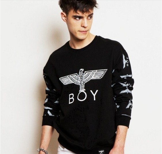 HOT SALE!2017 New Women/Men boy london 3D loose Long SLeeve Punk eagle printed Hoodies Sweatshirts Galaxy clothes Pullover Tops