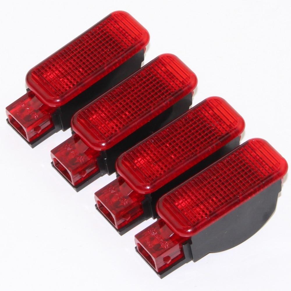 4pcs Car Door Panel Interior Red Warning Light For A3 A6 A5 A8 A4 Q3 Q5 A7 TT RSQ3 TTRS RS6 RS3 RS4 RS5 8KD 947 411 8KD947411