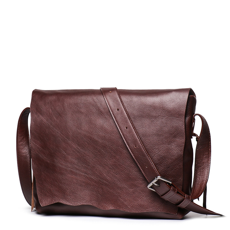 Nesitu High Quality Vintage Full Grain Vagetable Tanned Genuine Leather Women Men Messenger Bags Real Skin Shoulder Bag M9034Nesitu High Quality Vintage Full Grain Vagetable Tanned Genuine Leather Women Men Messenger Bags Real Skin Shoulder Bag M9034