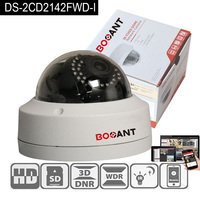 Waterproof IP 66 Original Hik DS 2CD2142FWD I 4MP Poe IP IR Vandal Resistant Dome Camera