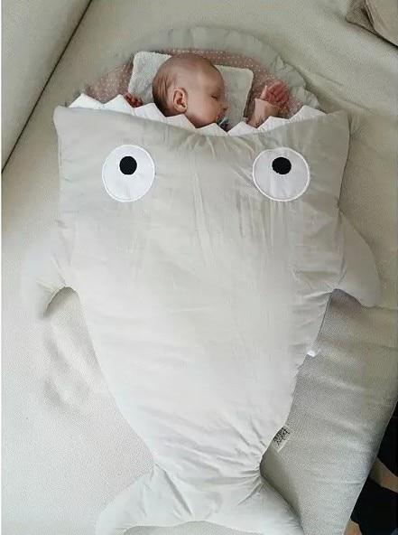 Promotion! 85cm Winter Newborns Sleeping Bag Strollers Bed Swaddle Blanket Wrap Cute Bedding cotton soft Sleepsacks