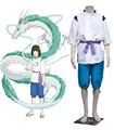 Free Shipping Hayao Miyazaki Sen and Chihiro's Spiriting Away Haku Spirit of the Kohaku River Kimono Anime Cosplay Costume