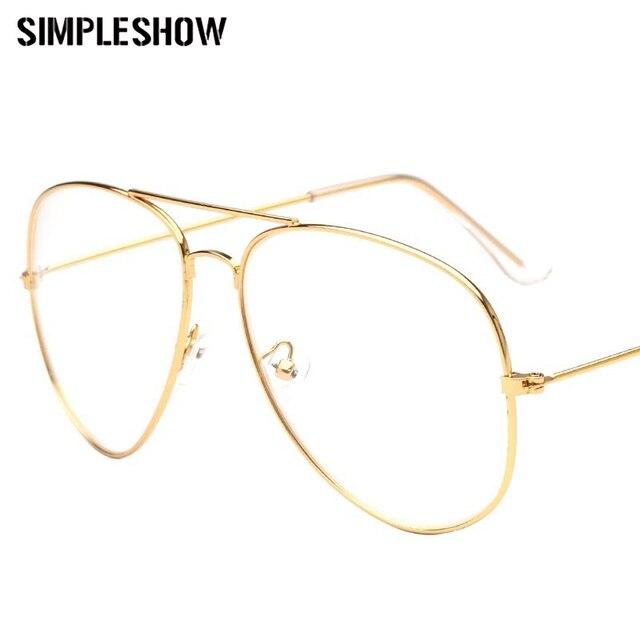 fac69219fc5 SIMPLESHOW 2019 Fashion Brand Clear Sunglasses Women Pilot Optical Sun  Glasses Women Men Alloy Frame Glasses