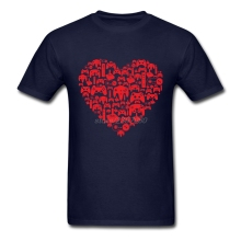 Custom Gaming Love Shirt Adult O Neck T Shirt Design Brand Natural Cotton Mens T-Shirts
