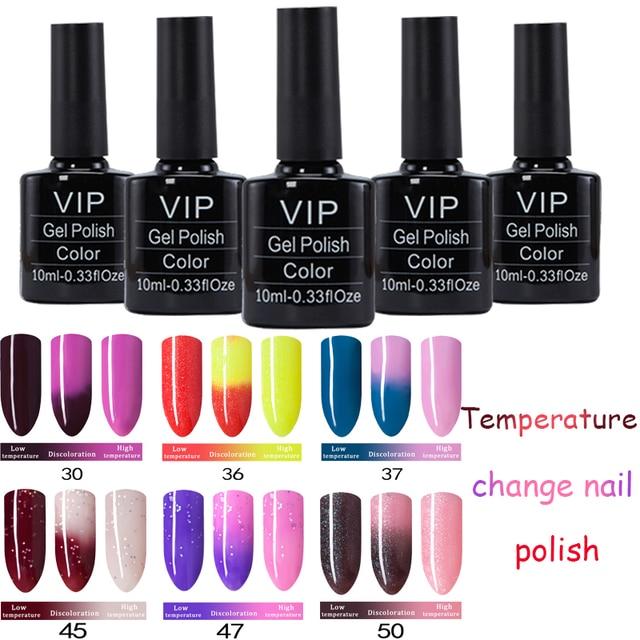 Mdskl Temperature Change Color Gel Polish Long Lasting Nail 10ml Bottle