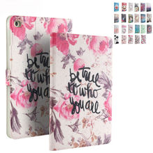 "PU Leather Case For iPad mini 4 mini4 Tablet Cover Funda Colorful Print Protective Stand For Apple iPad mini 4 7.9"" Smart Cases"