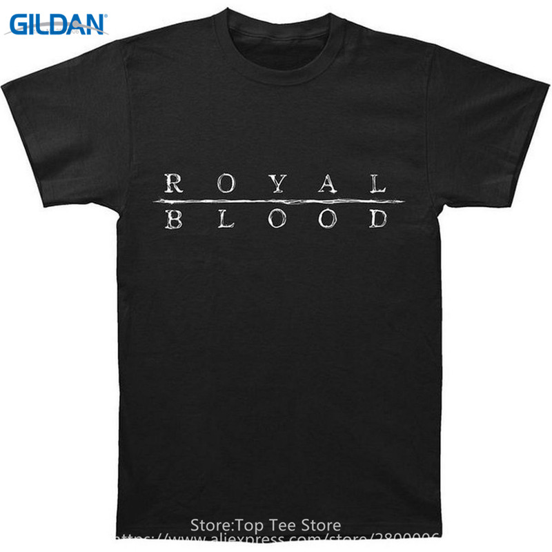 Casual T Shirts Graphic Men  Royal Blood O-Neck Short-Sleeve Tees Custom Made Good Quality Summer Short Sleeve Novelty