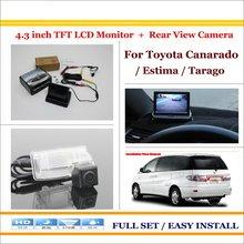"Auto Back UP Cámara de Marcha Atrás + 4.3 ""Color = 2 en 1 Sistema de Aparcamiento Retrovisor LCD Monitor-Para Toyota Canarado/Estima/Tarago"