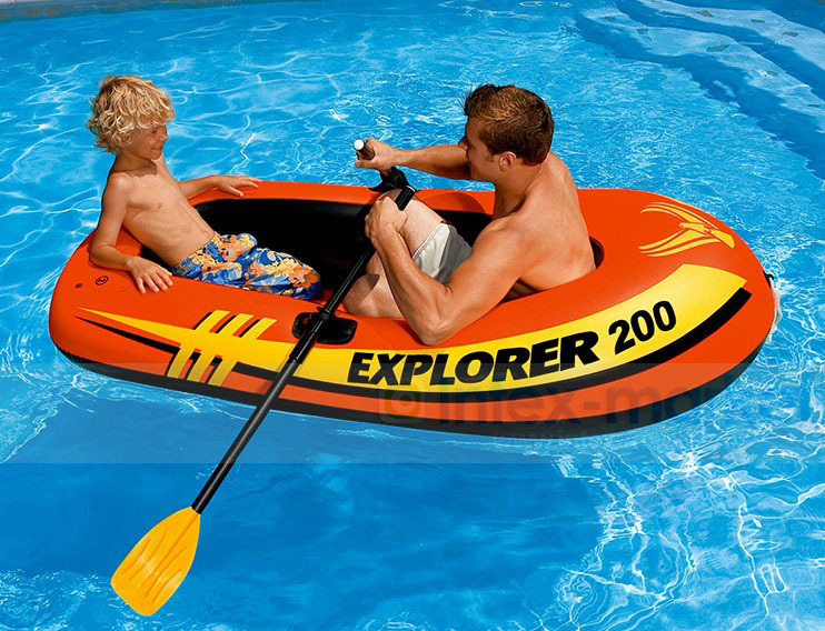 High quality  Inflatable Rowing Boats With Oars And Pump Rubber Fishing Boat Summer Water Sports lake or ocean inflatable funny water sports game water trampoline with air pump and repair kit