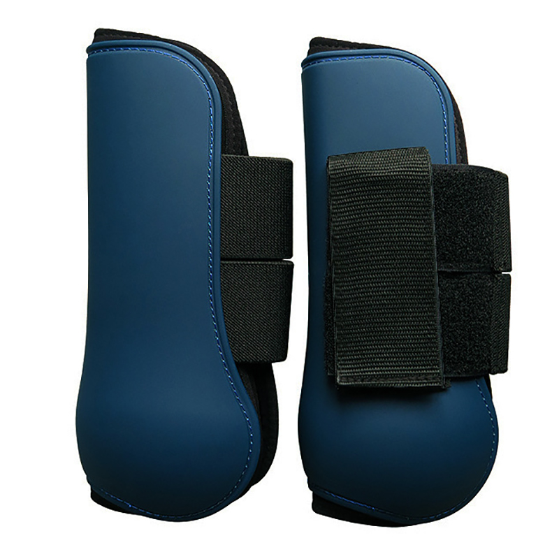 Horse Boots PU Tendon Protectors Front Hind Leg Boots Protection Neoprene Horse Riding Equipment Lightweight Equestrian