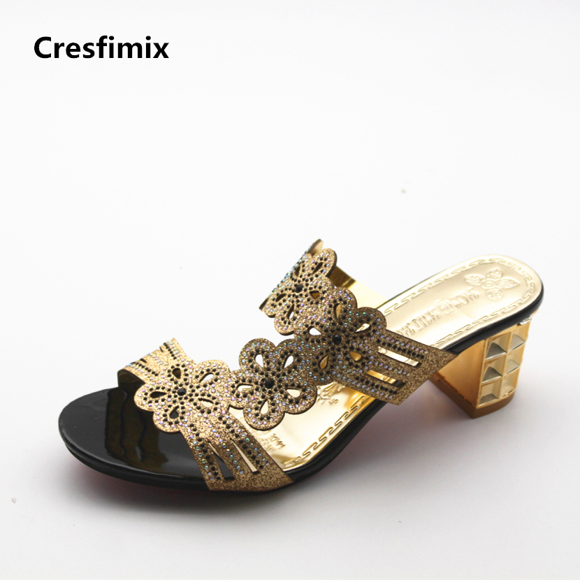 Cresfimix sandalias de mujer women fashion spring & summer slip on sandals lady cute & cool street stylish comfortable sandals cresfimix women fashion