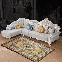 (1 chaise + 2 lugares + 1 Lugares) em forma de L sofá de couro # CE J03 l shape leather sofa leather sofa leather sofa sofa -