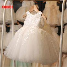 Lace Dress Formal-Wear Tulle Flower-Girl Pretty Ivory Soft Infant Kids FADISTEE New-Arrival