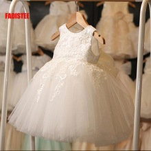 Lace Dress Formal-Wear Tulle Flower-Girl Pretty Soft FADISTEE Kids Infant Ivory New-Arrival