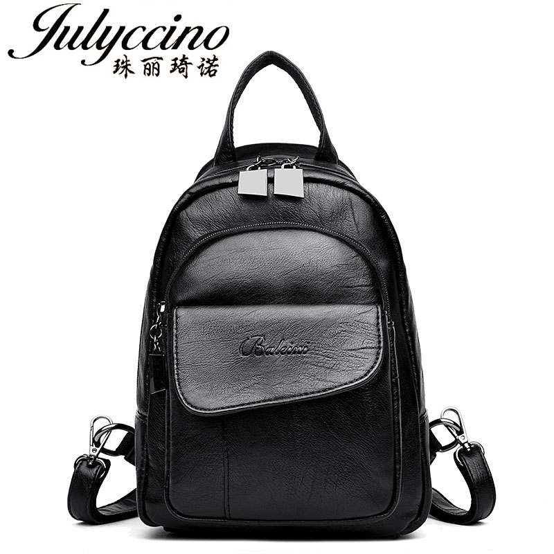 JULYCCINO Women Backpack High Quality PU Leather Mochila for Teenage Girls Female School Shoulder Bag Bagpacks Herald Fashion