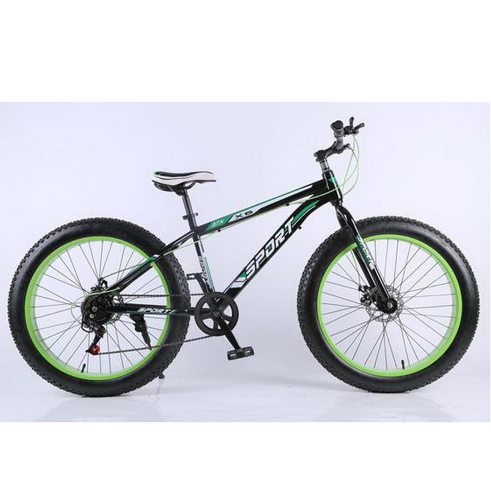 Al40903 Snowmobile 4 0 Super Wide Tires Mountain Bike Disc Brake Speed Men And Women Cycling