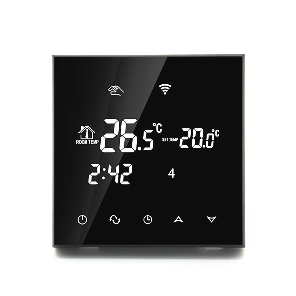 Electric Heating Wifi Thermostat Smart Digital Electric Programmable App Temperature Controller with Glass Touch Screen in Electric Heaters from Home Appliances