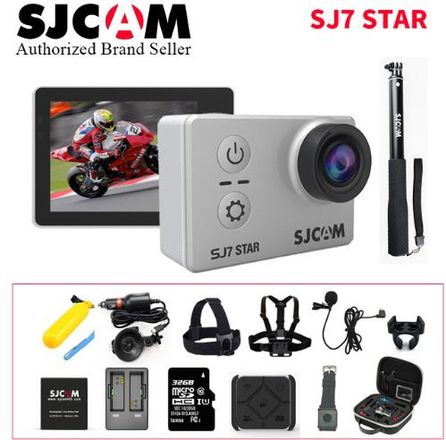 Sport Action Camera Original SJCAM SJ7 Star Wifi 4K GYRO Touch Screen  30M Waterproof Camcorder Better Gopro Hero 4 Style CAM ntk96660 sjcam m20 wifi gyro sport action camera hd 2160p 16mp imx 206 bluetooth watch self timer lever remote control raw cam