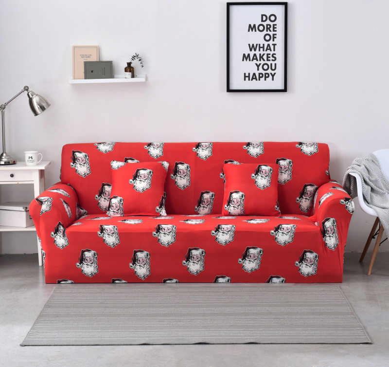 Christmas Sofa Cover Stretch Polyester Couch Cover Mordern Loveseat Cover Sofa Towel Sectional 1/2/3/4 Seater copridivano