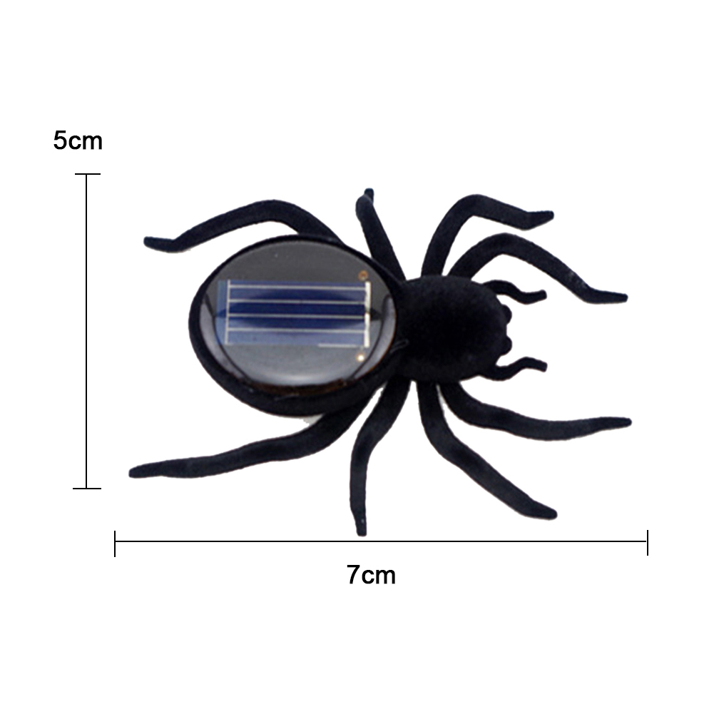 1Pcs Mini Solar Powered Spider Toy Robot Insect Toy Creative Baby Gift qV