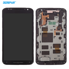 5.2'' For Motorola Moto X2 Xt1092 Xt1095 Xt1097 LCD Display Digitizer Touch Screen With Bezel Frame  Assembly 100% Test,Black