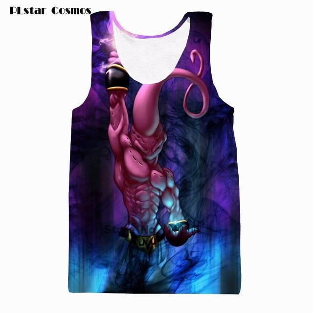 845c93fced573 PLstar Cosmos Kids Buu Destruction Tank Tops Harajuku Tee Shirts 2018 Men  Women Hipster 3d Dragon Ball Majin Buu Tank Top Tees