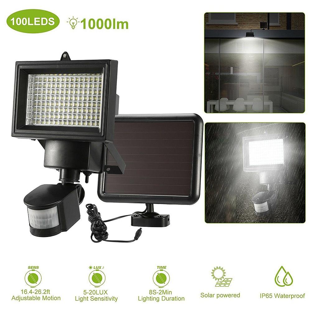 120 LED Solar Induction Lamp Wall-mounted LED Solar Light Outdoor Solar Spotlight With PIR-sensor Motion Detector