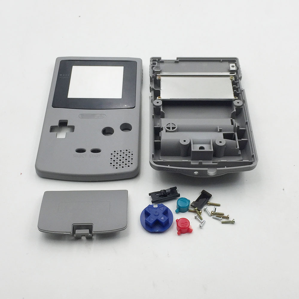 10PCS Gray White Housing Shell Case Cover Replacement For Nintendo Gameboy Color GBC